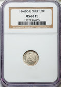 Chile, Chile: Republic 1/2 Real 1846 So-IJ MS65 Prooflike NGC,...