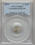 Colombia, Colombia: Republic Certified Minor Decimal Coinage Trio 1879-82,...(Total: 3 coins)