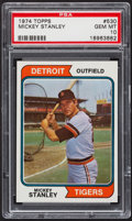 Baseball Cards:Singles (1970-Now), 1974 Topps Mickey Stanley #530 PSA Gem Mint 10 - Pop Three. ...