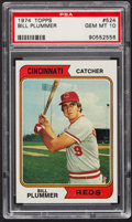 Baseball Cards:Singles (1970-Now), 1974 Topps Bill Plummer #524 PSA Gem Mint 10 - Pop Three. ...