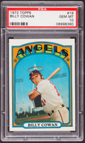 Baseball Cards:Singles (1970-Now), 1972 Topps Billy Cowan #19 PSA Gem Mint 10....