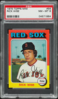 Baseball Cards:Singles (1970-Now), 1975 Topps Mini Rick Wise #56 PSA NM-MT 8....
