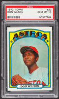 Baseball Cards:Singles (1970-Now), 1972 Topps Don Wilson #20 PSA Gem Mint 10....