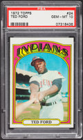 Baseball Cards:Singles (1970-Now), 1972 Topps Ted Ford #24 PSA Gem Mint 10 - Pop Two. ...