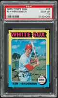 Baseball Cards:Singles (1970-Now), 1975 Topps Mini Ken Henderson #59 PSA Gem Mint 10....