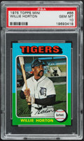 Baseball Cards:Singles (1970-Now), 1975 Topps Mini Willie Horton #66 PSA Gem Mint 10 - Pop Two....