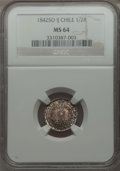 Chile, Chile: Republic 1/2 Real 1842 So-IJ MS64 NGC,...