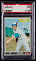 Baseball Cards:Singles (1970-Now), 1970 Topps Don Shaw #476 PSA Mint 9....