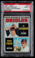 Baseball Cards:Singles (1970-Now), 1970 Topps Orioles Rookies #477 PSA Mint 9....