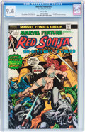 Bronze Age (1970-1979):Adventure, Marvel Feature #1 Red Sonja (Marvel, 1975) CGC NM 9.4 White pages....