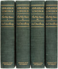 Books:Americana & American History, Carl Sandburg. SIGNED. Abraham Lincoln: The War Years. NewYork: Harcourt, Brace & Company, [1939]. First Editions. ...(Total: 4 Items)