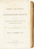 Books:Reference & Bibliography, E. A. Andrews. A Copious and Critical Latin-English Lexicon. New York: Harper & Brothers, 1852....