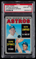 Baseball Cards:Singles (1970-Now), 1970 Topps Astros Rookies #492 PSA Gem Mint 10 - Pop Two....