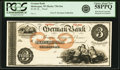 Obsoletes By State:Wisconsin, Sheboygan, WI - German Bank $3 18__ WI-730 G6a. Proof. PCGS Choice About New 58PPQ.. ...