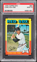 Baseball Cards:Singles (1970-Now), 1975 Topps Mini Carlton Fisk #80 PSA Mint 9....