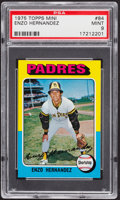 Baseball Cards:Singles (1970-Now), 1975 Topps Mini Enzo Hernandez #84 PSA Mint 9....