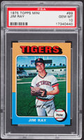 Baseball Cards:Singles (1970-Now), 1975 Topps Mini Jim Ray #89 PSA Gem Mint 10....