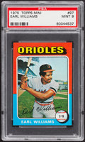 Baseball Cards:Singles (1970-Now), 1975 Topps Mini Earl Williams #97 PSA Mint 9....