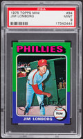 Baseball Cards:Singles (1970-Now), 1975 Topps Mini Jim Lonborg #94 PSA Mint 9....