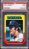 Baseball Cards:Singles (1970-Now), 1975 Topps Mini Steve Busby #120 PSA Mint 9....