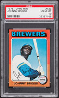 Baseball Cards:Singles (1970-Now), 1975 Topps Mini Johnny Briggs #123 PSA Gem Mint 10....