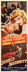 "Movie Posters:Film Noir, Double Indemnity (Paramount, 1944). Insert (14"" X 36"").. ..."