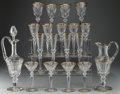 Decorative Arts, French:Other , A Forty-Two Piece St. Louis Excellance Pattern Gilt GlassService for Eight, Saint-Louis-lès-Bitche, France, des... (Total:42 Items)