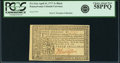 Colonial Notes:Pennsylvania, Pennsylvania April 10, 1777 3 Shillings Black Fr. PA-216a. PCGSChoice About New 58PPQ.. ...