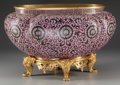 Asian:Chinese, A Chinese Cloisonné Jardinière on Gilt Bronze Stand. 11-1/2 incheshigh x 17-1/4 inches wide x 11-1/4 inches deep (20.3 x 43...(Total: 2 Items)