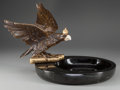 Decorative Arts, Continental, An Imperial German Carved Hardstone, Gilt and Patinated BronzeFigural Center Bowl, 20th century. 11-1/2 inches high x 17 in...