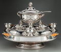 Silver Holloware, British:Holloware, A Silver-Plated Lazy Susan Fitted Warming Serving Set, 20thcentury. Marks: pseudo Sheffield hallmarks to each. 19 inches hi...(Total: 16 Items)