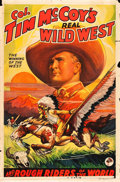 "Movie Posters:Miscellaneous, Tim McCoy's Real Wild West (1938). One Sheet (27"" X 41"") Style D....."