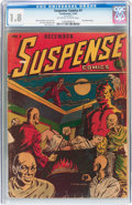 Golden Age (1938-1955):Horror, Suspense Comics #1 (Continental Magazines, 1943) CGC GD- 1.8Off-white to white pages....