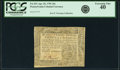 Colonial Notes:Pennsylvania, Pennsylvania April 20, 1781 20 Shillings Fr. PA-251. PCGS ExtremelyFine 40.. ...
