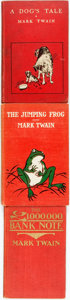 Books:Fiction, [Mark Twain]. Trio of Titles. Includes: The £1,000,000 BankNote [together with:] The Jumping Frog [and:] A Dog's... (Total: 3 Items)