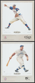 Baseball Collectibles:Photos, Buck Leonard and Satchel Paige Lithographs Lot of 2....