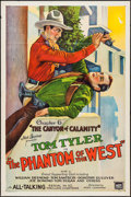 "Movie Posters:Serial, The Phantom of the West (Mascot, 1931). One Sheet (27"" X 41"")Chapter 6 --""The Canyon of Calamity."" Serial.. ..."
