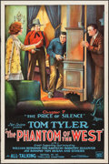 "Movie Posters:Serial, The Phantom of the West (Mascot, 1931). One Sheet (27"" X 41"")Chapter 7 -- ""The Price of Silence."" Serial.. ..."