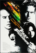 "Movie Posters:Action, The Fast and the Furious (Universal, 2001). One Sheet (26.75"" X 39.5"") DS Advance. Action.. ..."
