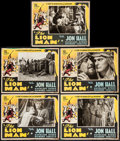 "Movie Posters:Adventure, The Lion Man (United Screen Associates, 1936). Lobby Cards (5) (11""X 14""). Adventure.. ... (Total: 5 Items)"