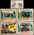 "Movie Posters:Documentary, Forgotten Men (Jewel Productions, 1933). Lobby Card Set of 4 (11"" X 14"") & Herald (7.75"" X 10.75""). Documentary.. ... (Total: 5 Items)"