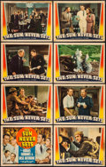 "Movie Posters:Adventure, The Sun Never Sets (Universal, 1939). Lobby Card Set of 8 (11"" X14""). Adventure.. ... (Total: 8 Items)"