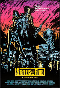 """Streets of Fire (Universal, 1984). One Sheets (5) (27"""" X 40"""") Red, Orange, Yellow, and Purple Advance &amp..."""