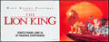 """Movie Posters:Animation, The Lion King (Buena Vista, 1994). Banner (47.5"""" X 120"""") SS Advance. Animation.. ..."""