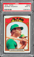 Baseball Cards:Singles (1970-Now), 1972 Topps George Hendrick #406 PSA Mint 9....