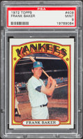 Baseball Cards:Singles (1970-Now), 1972 Topps Frank Baker #409 PSA Mint 9....