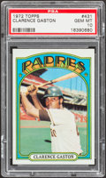 Baseball Cards:Singles (1970-Now), 1972 Topps Clarence Gaston #431 PSA Gem Mint 10 - Pop Three....