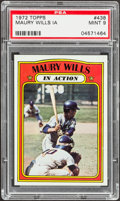 Baseball Cards:Singles (1970-Now), 1972 Topps Maury Wills IA #438 PSA Mint 9....