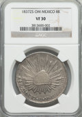 Mexico, Mexico: Republic 8 Reales 1837 Zs-OM VF30 NGC,...