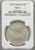 Mexico, Mexico: Republic 8 Reales 1894 Go-RS MS62 NGC,...